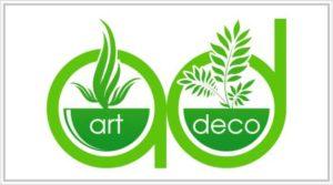 Art Deco, кашпо и декоративные растения